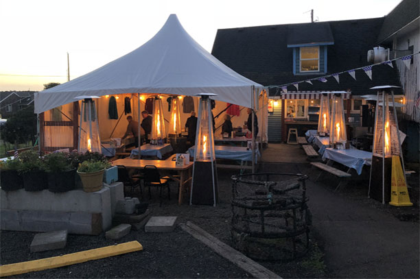 Live Music Tent At Our Yachats Oregon Restaurant