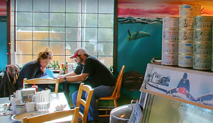 Couple Eating Inside At Our Yachats Oregon Restaurant
